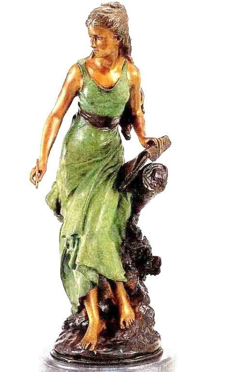 "17: ""Chevalier"" Bronze Sculpture - A.  Moreau"