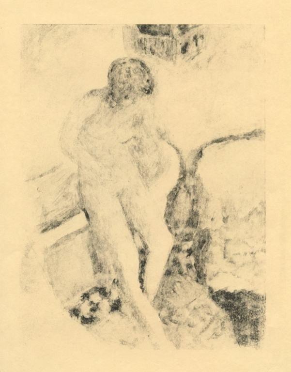 "31: Bonnard ""Nu a la baignoire"" original lithograph, ed"
