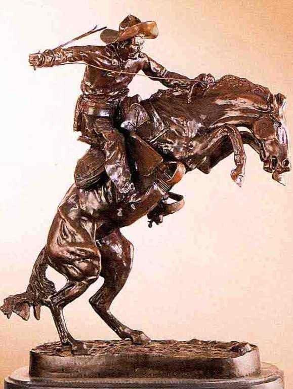 """1: """"Bronco Buster"""" Bronze Sculpture -  Remington"""