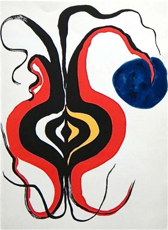"""11: Calder lithograph """"Ampoule"""" 1966"""