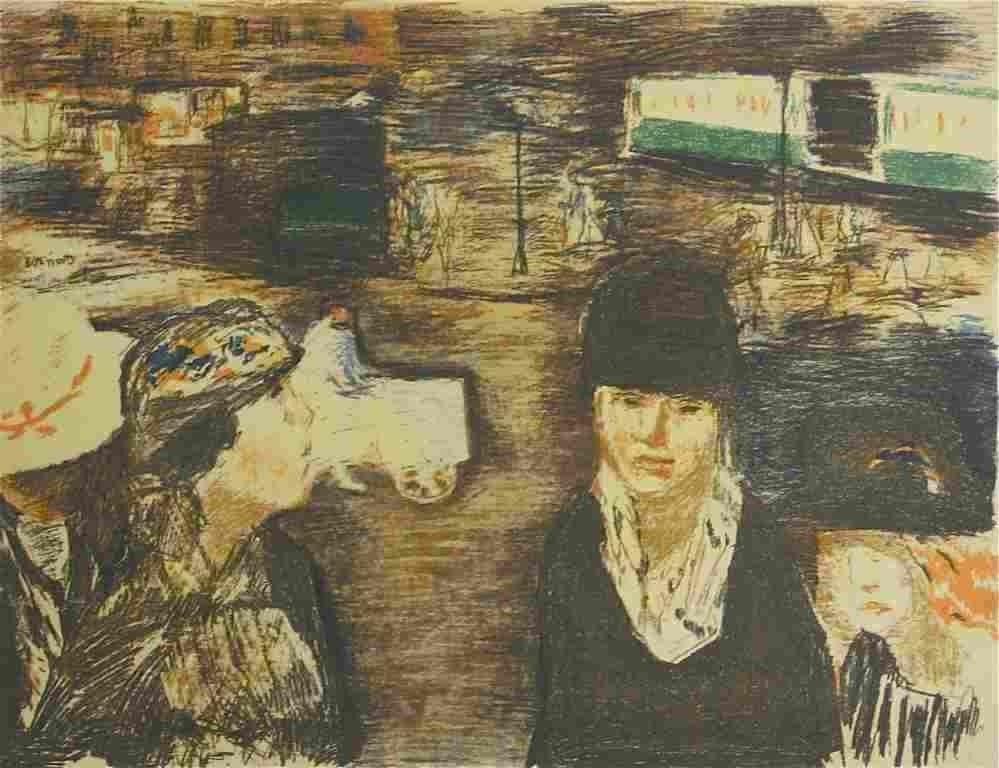 """17: Bonnard lithograph """"Place Clichy"""""""
