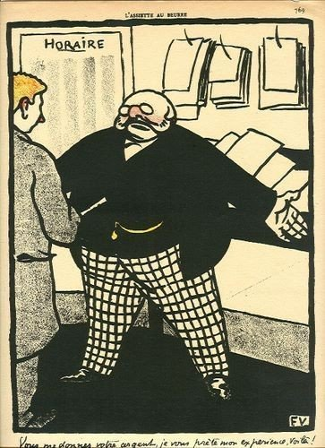 21: Felix Vallotton original lithograph