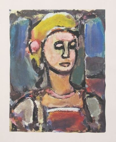 "25: Rouault ""Margot"" lithograph"