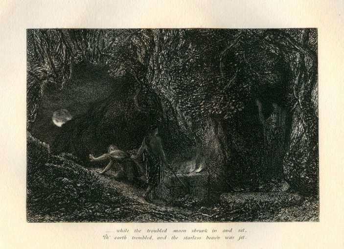 "29: Palmer ""The Sepulchre"" Eclogue 8 original etching"