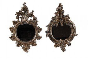 31: ORNATE MIRRORS - SET OF TWO - MINT