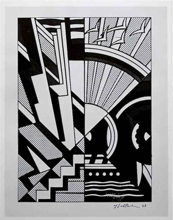"""43: Roy Lichtenstein """"Town and Country"""""""