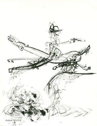 1143: Sebastian Matta original lithograph, 1967