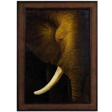 "3: ""ELEPHANT"" - ORIGINAL OIL ON CANVAS - MINT"