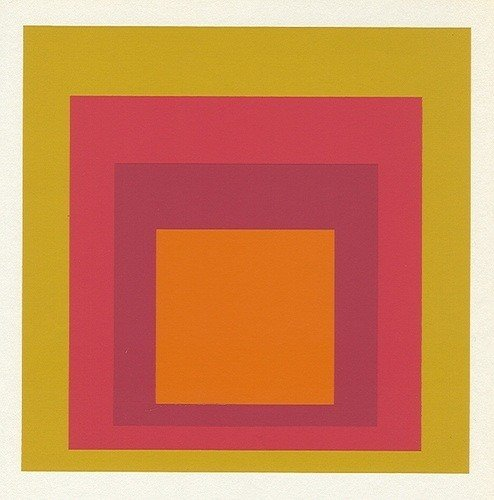 """9: Albers silkscreen """"Homage to the Square"""""""