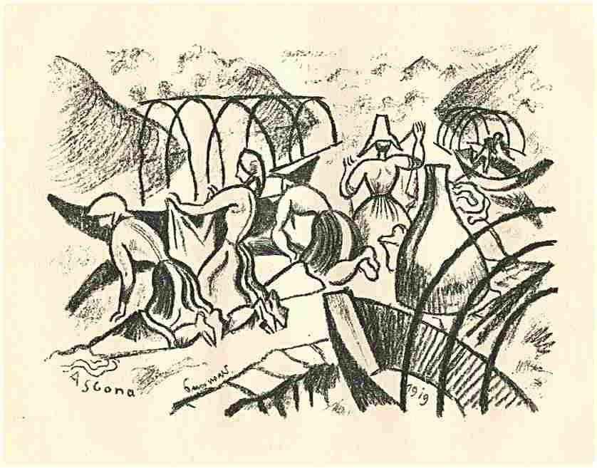 """17: Seewald """"Lago Maggiore"""" original lithograph"""