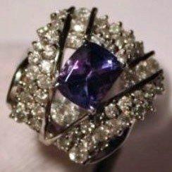 19: Tanzanite & Diamond Ring