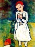 """29: PICASSO """"CHILD HOLDING A DOVE"""""""