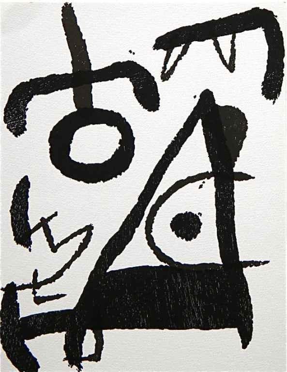 37: Joan Miro original woodcut