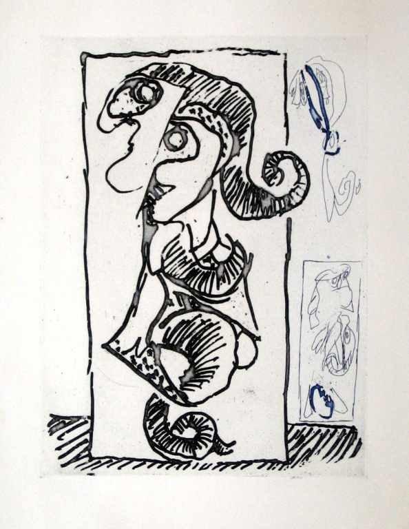 5: Pierre Alechinsky original etching