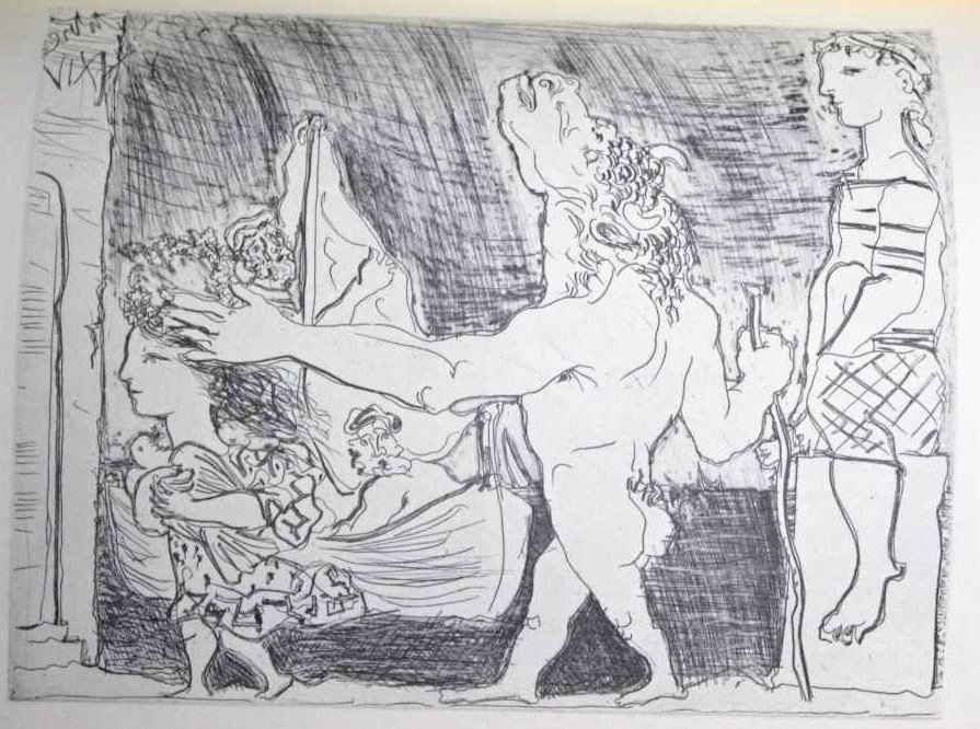 "41: PICASSO ""BLIND MINOTAUR LED BY GIRL WITH DOVE"""