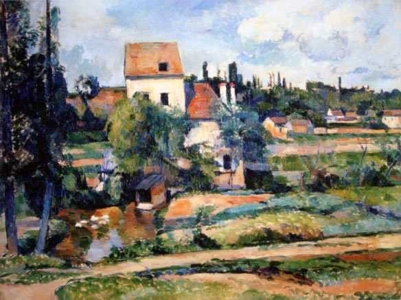 "17: CEZZANNE ""MILL ON THE COULEUVRE NEAR AUVERS"""