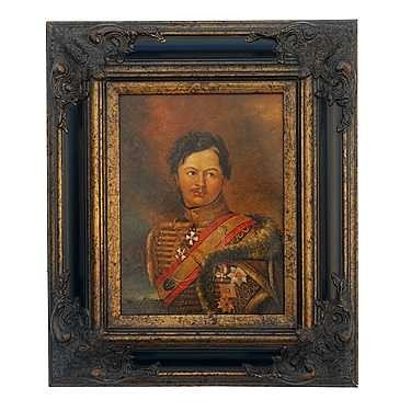 "37: ""GENERAL III"" - ORIGINAL OIL ON CANVAS - MINT"