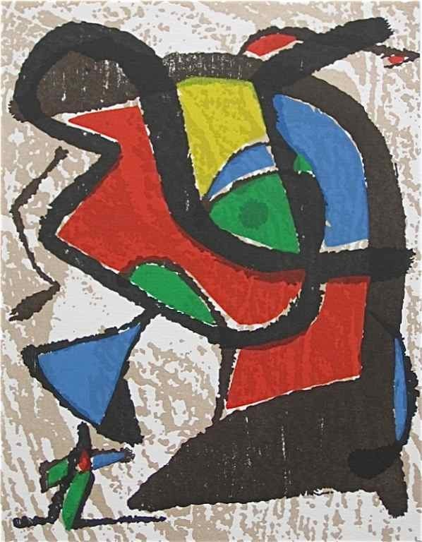 891: Joan Miro original woodcut
