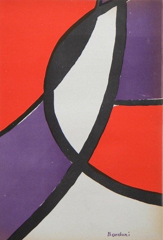907: Enrico Bordoni original lithograph