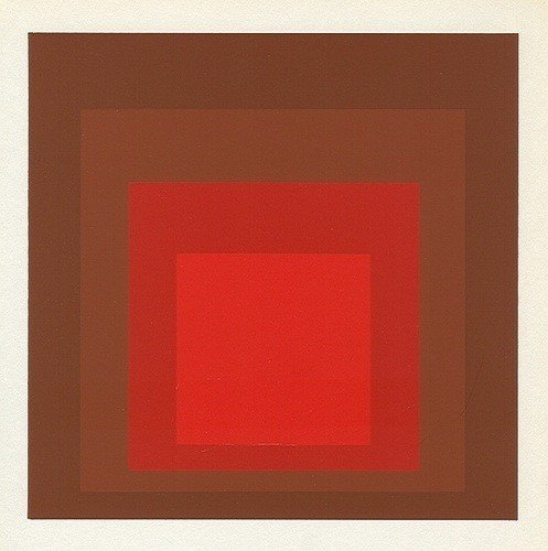"7: Albers silkscreen ""Homage to the Square"""