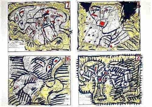 """13: Pierre Alechinsky """"Paris Arrondissements"""""""