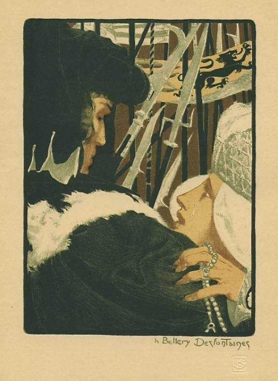 "27: Bellery-Desfontaines original lithograph ""L'Implora"