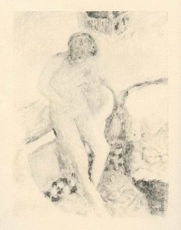 """31: Bonnard """"Nu a la baignoire"""" original lithograph"""