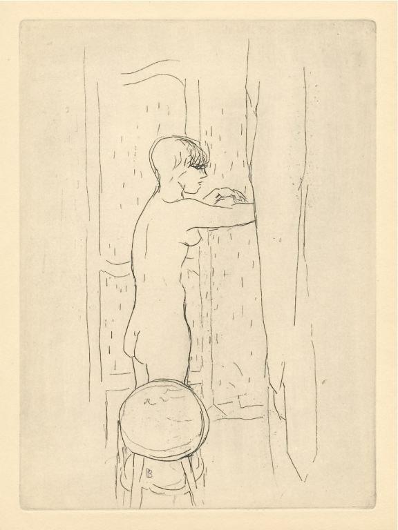 "37: Pierre Bonnard ""Nu"" original etching, 1927"