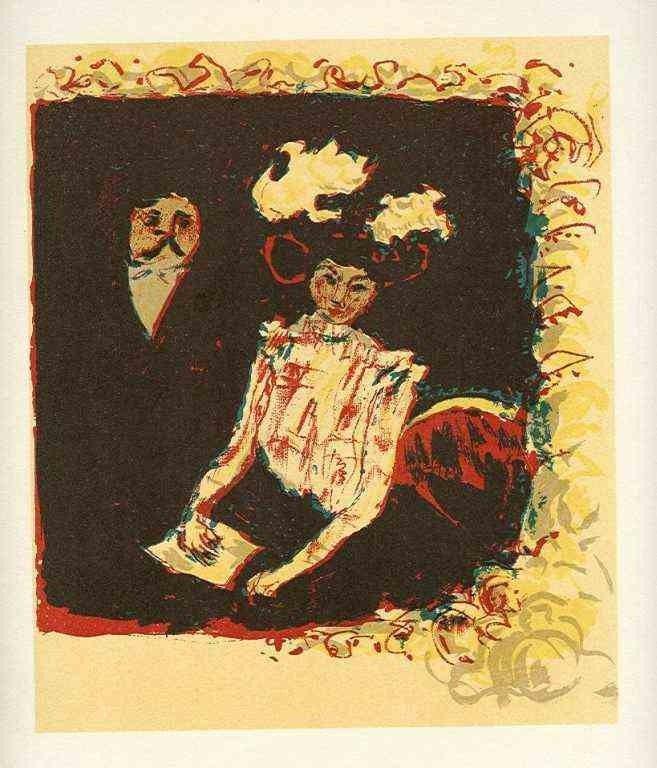 """41: Bonnard lithograph """"Frontispice pour la Lithographi"""