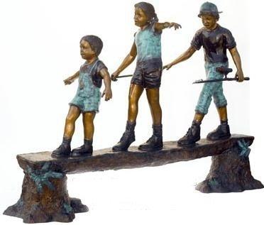 """47: """"Balancing Act"""" Monumental Bronze Sculpture"""