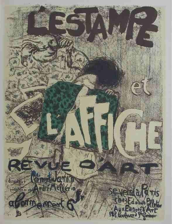 """13: Pierre Bonnard lithograph """"L'Estampe et l'Affiche"""""""