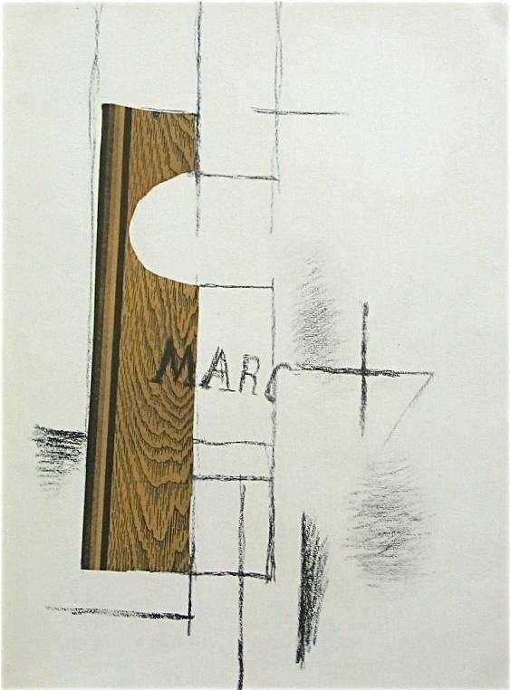 """17: Georges Braque pochoir """"La Bouteille de Marc"""" 1956"""