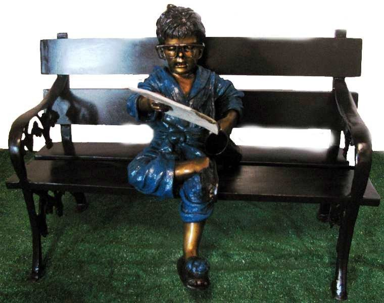"25: ""Little business Boy"" Jumbo Bronze Sculpture"