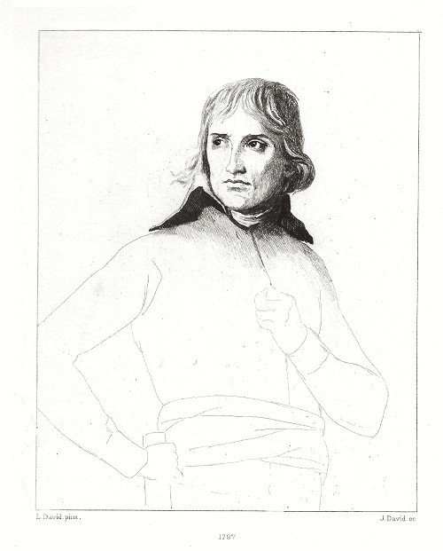 "31: Jacques-Louis David ""Napoleon Bonaparte"" etching, 1"