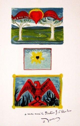 "37: Andre Derain lithograph ""In the Garden of Allah"""