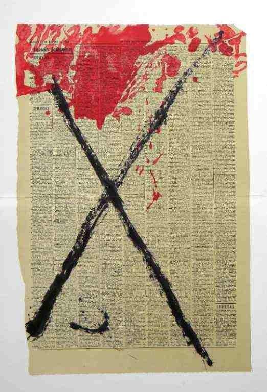187: Antoni Tapies original lithograph, 1968