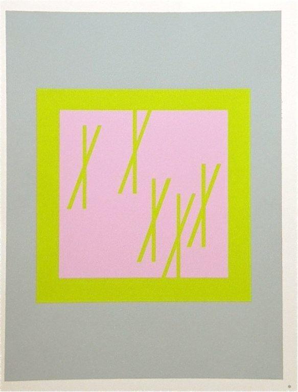 3: Albers silkscreen  Interaction of Color, 1963