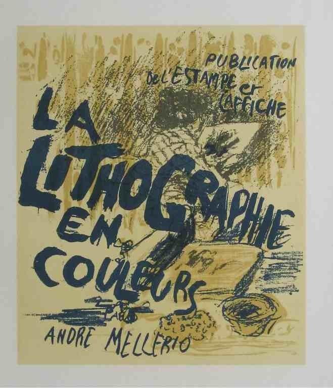 """9: Pierre Bonnard lithograph """"La Lithographie en Couleu"""