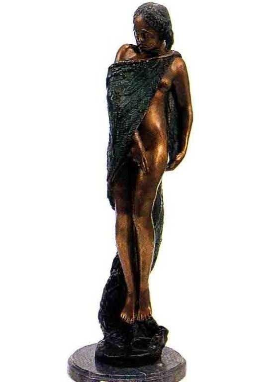 """13: """"Cloak of Flowers"""" Bronze Sculpture - Kurtz"""