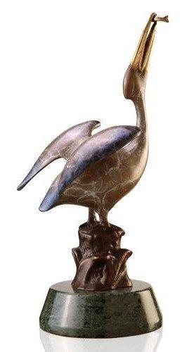 17: Bronze Pelican Sculpture