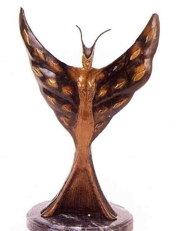 """31: """"Freedom"""" Bronze Sculpture Inspired - Icart"""