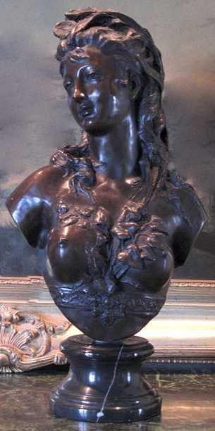"""41: """"RENAISSANCE WOMAN"""" Bronze Bust"""