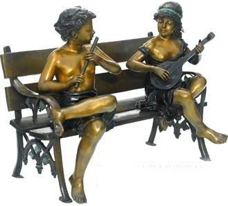 "45: ""Park Musicians"" Jumbo Bronze Sculpture"