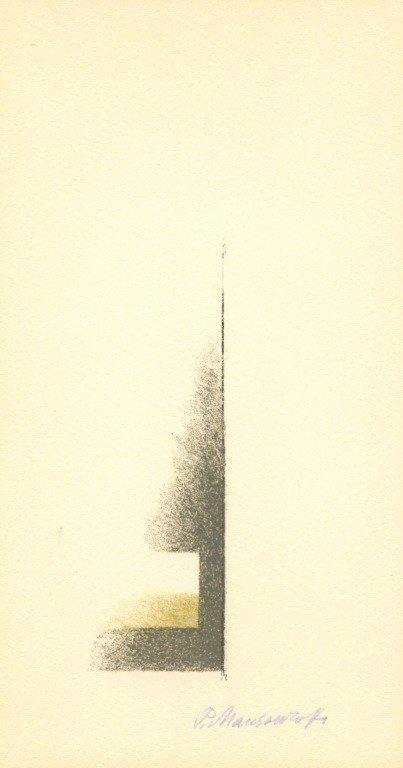 55: Mansouroff signed original lithograph