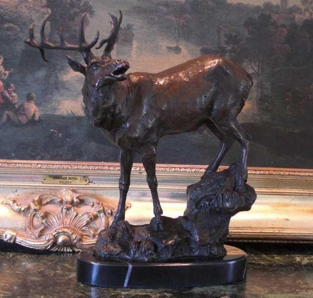 """5: """"ELK""""Bronze Sculpture"""