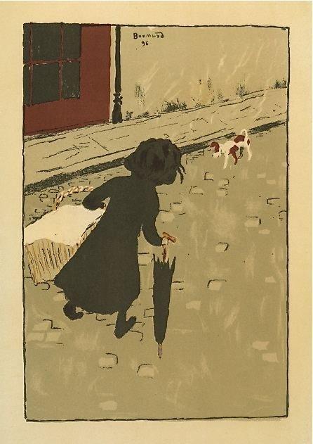 """13: Pierre Bonnard lithograph """"La Petite Blanchisseuse"""""""