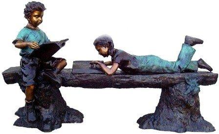 "29: ""Reading Time"" Monumental Bronze Sculpture"