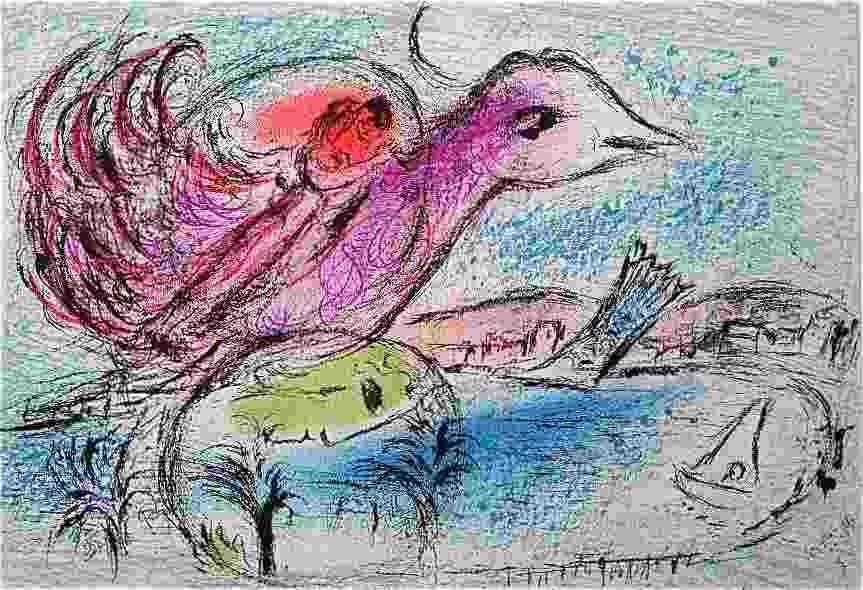 217: Marc Chagall Original Lithograph