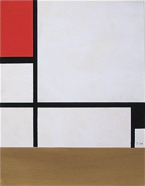 1227: Piet Mondrian color Ponchoir