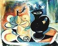 """26: PICASSO """"FRUIT WITH VASE OF FLOWERS"""""""